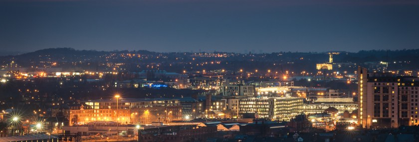 Nottingham Skyline by West View , Colwick Woods