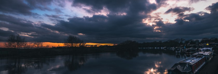 Skies brewing over Beeston Canal , Nottingham.