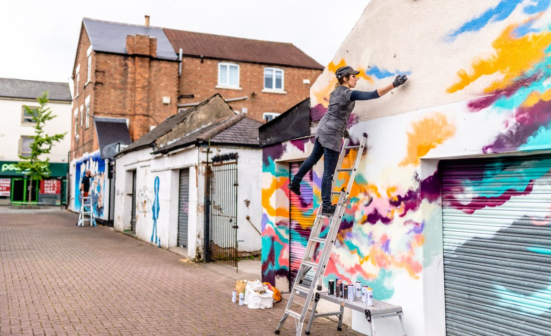 Colour and Vibrancy – Beeston Street Art Festival